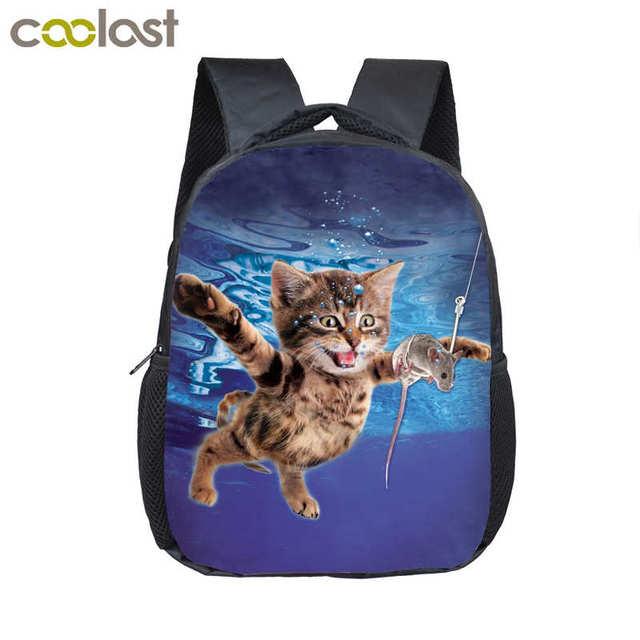 Cat Boxer Kindergarten Backpack Galaxy Wolf School Bags for Boys Girls 3D  Shark Children Bookbag Unicorn Bag Toddler Kids Gift