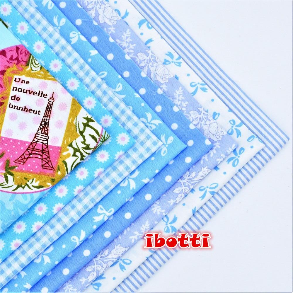 ibotti 8 Unids / Lote 46 * 56 cm Azul Bowknot Dot Grid Series tela de - Artes, artesanía y costura - foto 2
