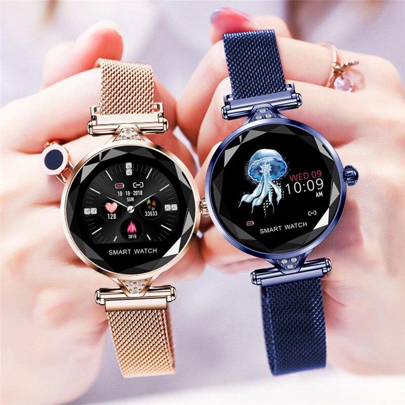 H1 mode femmes Smartwatch portable Bluetooth podomètre moniteur de fréquence cardiaque Fitness Tracker montre intelligente pour Android IOS