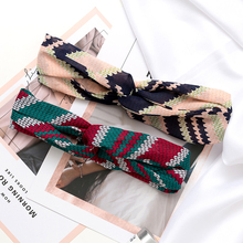 Fashion Print Flower Knot Women Headband Turban Elastic Hairband Girls Head wear Lady Elegant Hair Accessories Beach Wrap