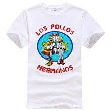 Модная футболка Los Pollos Hermanos, Мужская футболка с надписью «Breaking Bad Chicken Brothers», повседневные футболки для мальчиков, мужские топы,#108