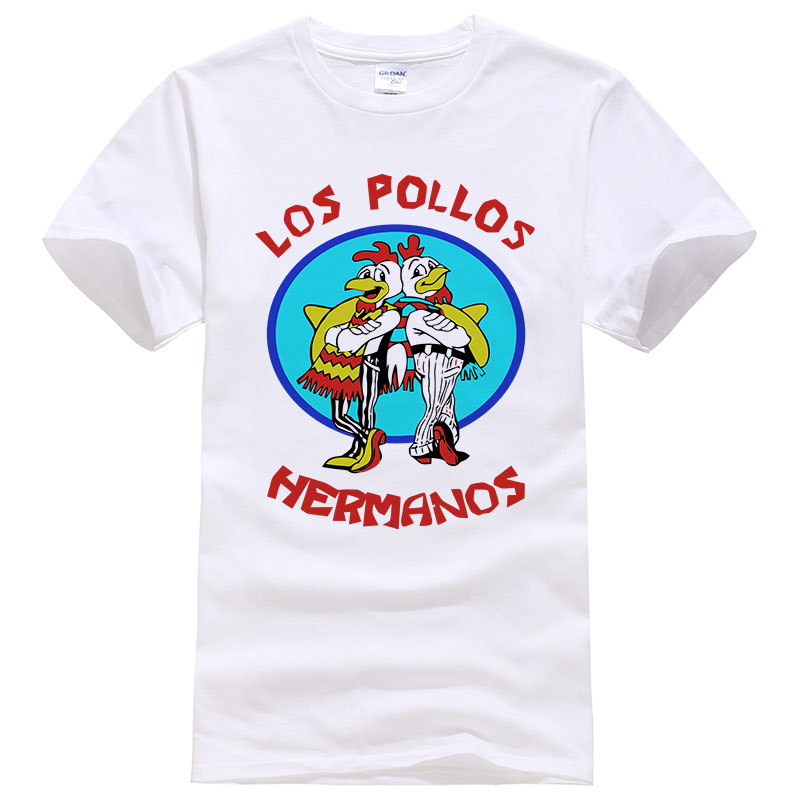 Fashion Los Pollos Hermanos   T     Shirt   Men's Breaking Bad Chicken Brothers   T  -  shirts   Boys Casual Tees men women Tops #108