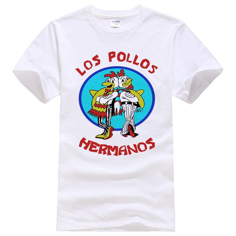Fashion Los Pollos Hermanos   T     Shirt   Men's Breaking Bad Chicken Brothers   T  -  shirts   Boys Casual Tees men women Tops #108