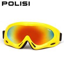 Polisi niños motos de nieve gafas de esquí snowboard skate niños niñas anti-vaho uv400 eyewear kids invierno esquí nieve esqui gafas