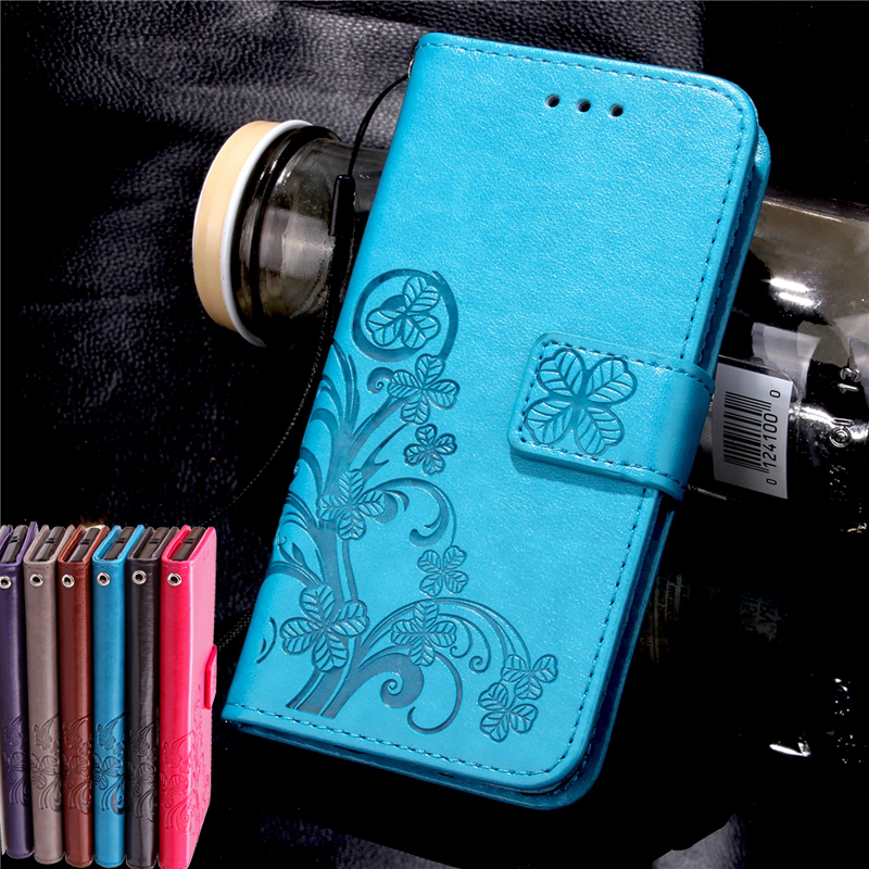 For Samsung Galaxy S3 S4 S5 mini S6 S7 Edge Note 3 4 5 Folio Stand PU Leather String Phone Case Four Leaf Clover Wallet Cover