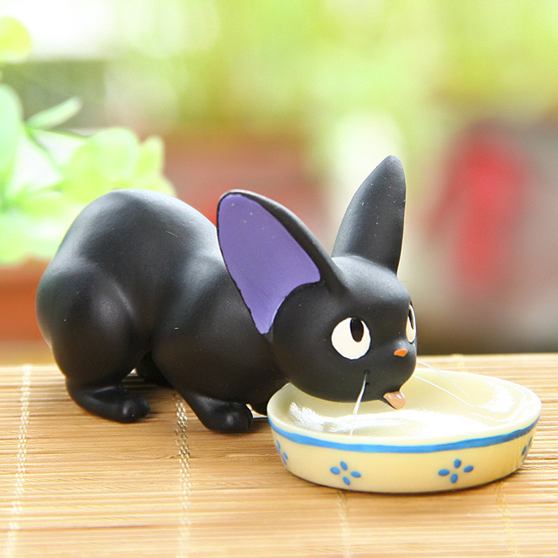 Studio Ghibli Miyazaki Kiki's Delivery Service Black JiJi Cat Resin Action Figure Toys Collection Model Toy for Home Decor шайба diffusor sh30 6m