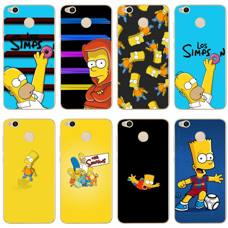 The Simpsons Cartoons Anime Cover Soft Silicone TPU Phone Case For xiaomi4 5 6 6X 8 miX2S for redmi4A 4X 5 5a 5Plus note 4 4X 5