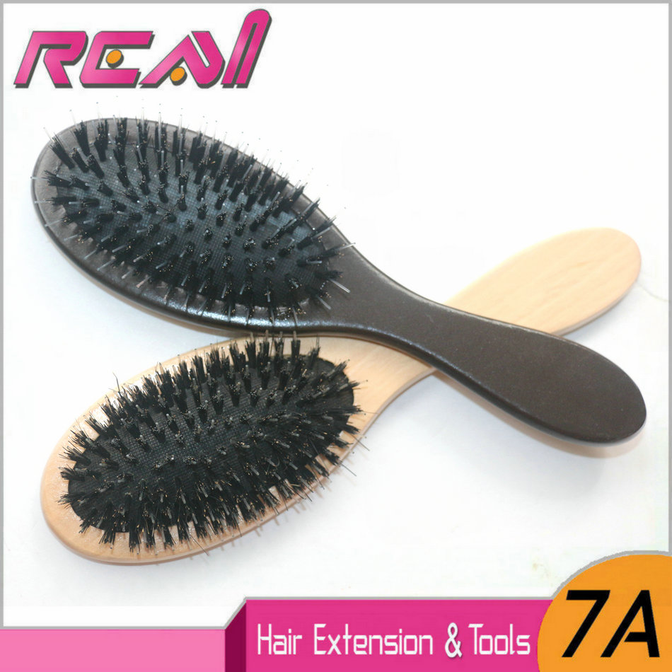 Professional Natural Hair Extension Brush Boar Bristle