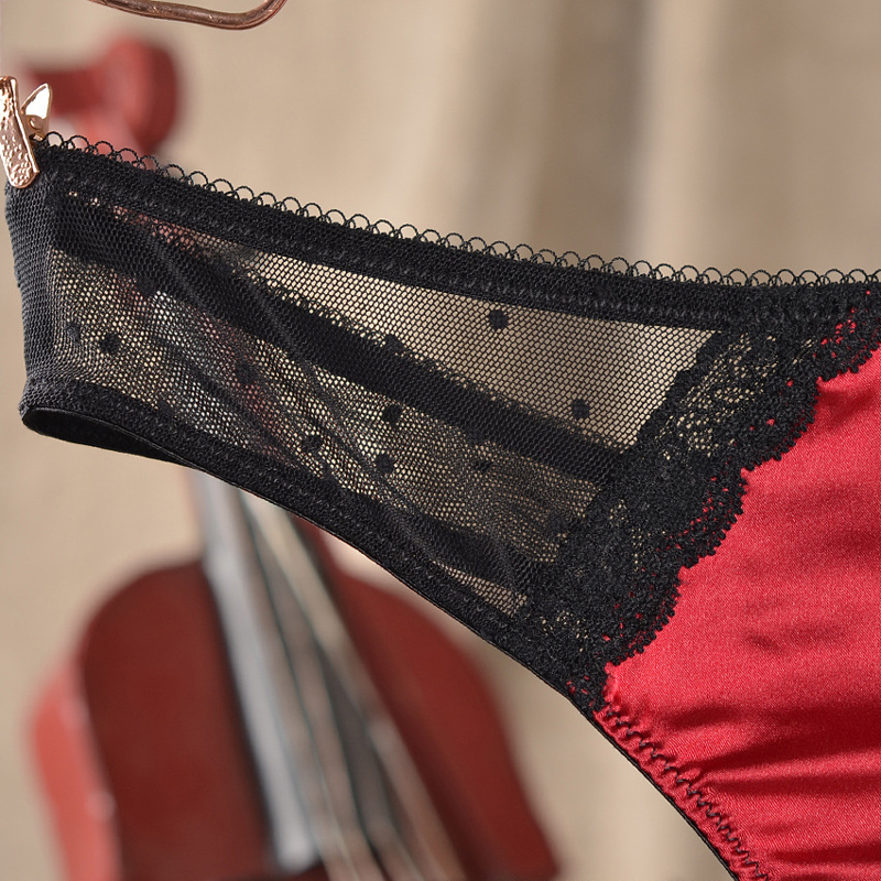 e476b1b5a ATTENDRE Plus Size Underwear Women Sexy Red Panties Female Seamless Black  Lace Lingerie T Back Low Rise Breathable Mesh Thongs-in G-Strings