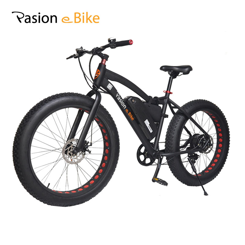 PASION E BIKE 36V 500W  powerful electric fat bike 36V Lithium Battery E bicycle 26X4.0 Off road Electric bicycle mountain bike