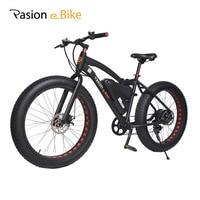 PASION E BIKE 48V 500W Powerful Electric Fat Bike 48V Lithium Battery E bicycle 26X4.0 Off Road Electric Bicycle Mountain Bike
