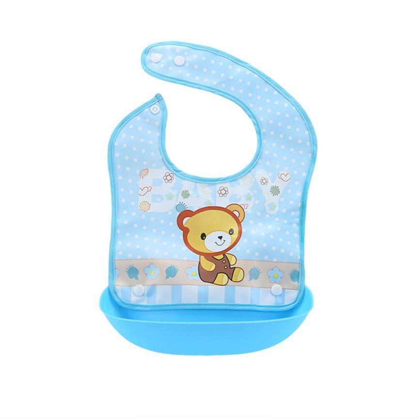 BMF TELOTUNY Fashion Baby Detachable Kids Boys Girls Cartoon Waterproof Feeding Apron Saliva Towel Bib Smock Apr9 Drop Ship