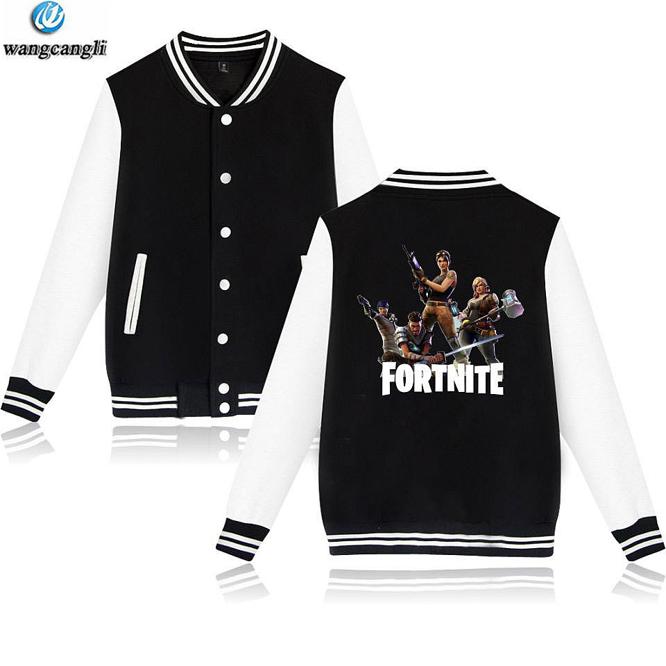 Fortnite Baseball Jacket Hoodies Sweatshirt Tops Pullover Men Pop Funny FPS Games Hoodie Mens Tracksuit Bomber Jacket Clothes