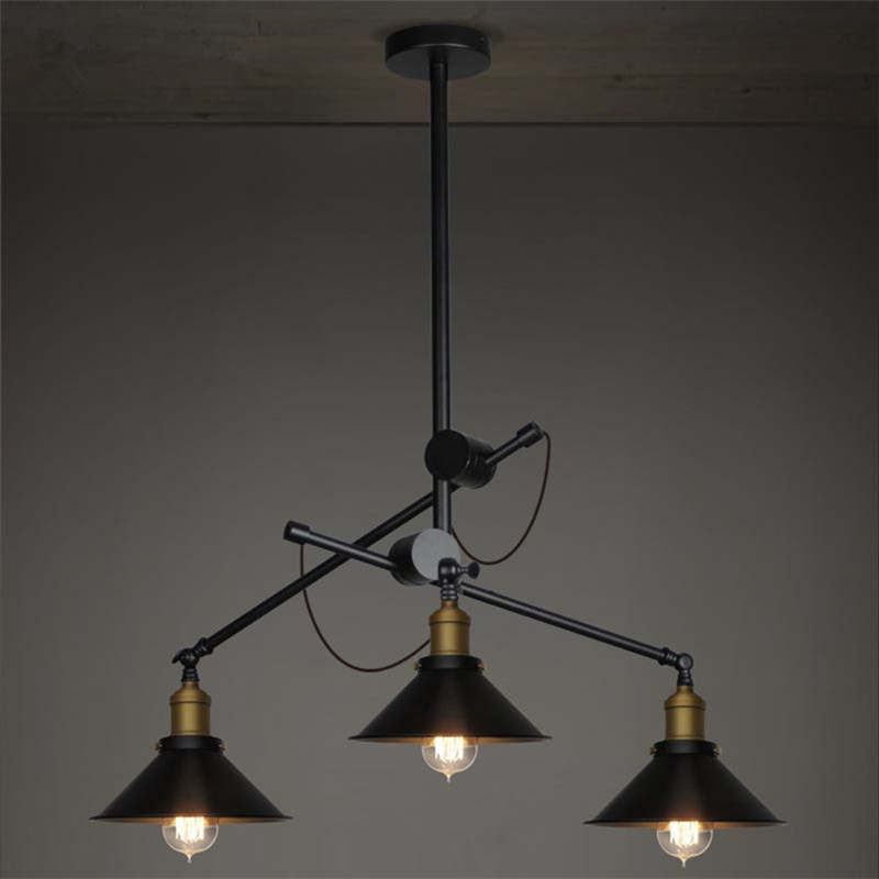 3 Heads Loft Industrial Retro American Village Living Bed Room Pendant Lamp European Umbrella Shape Branch Home Decor Lights european style retro glass chandelier north village industrial study the living room bedroom living rough bar lamp loft