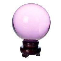 150 мм натуральный кварц розовый кристалл стекло фэн шуй Чакра Исцеление драгоценный камень сфера магический шар с деревянной база для д
