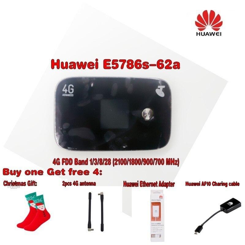 HuaHuawei débloqué E5786s-62a 4G LTE Cat6 Mobile WiFi bande 1/3/8/28 (2100/1800/900/700 MHz) + cadeau de noël 4