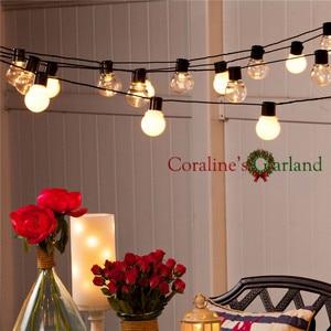 Image 4 - 10 メートル Led ストリングライト 38 個 G50 白グローブ屋内屋外ガーデンパーティーパティオの装飾と接続可能プラグ付属