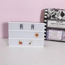 Новинка A6 Размер DIY Light Box Выражения Письма 90 карт День святого Валентина Свадебная вечеринка Украшение USB Аккумуляторная 16x11x5CM