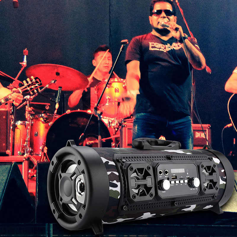 High Quality Wireless Bluetooth Waterproof Portable High-power 15W Music Barrel Speaker for Outdoor