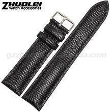New Soft Durável Genuine pulseira de Couro De Bezerro 18 | 20 | 22 | 24mm assista bracelete de Couro