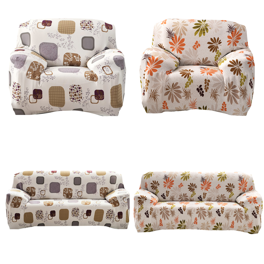 Sofa Cover Vintage Style Cloth Art Spandex Stretch Printed Flower Slipcover  Machine Washable Home Living Room
