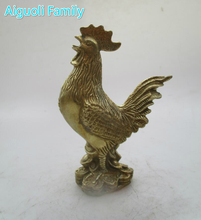 decoration Metal Craft Chinese Brass Carved Cock Figurines/Home Decorated Fengshui Chicken Statue/Zodiac Fowl sculpture