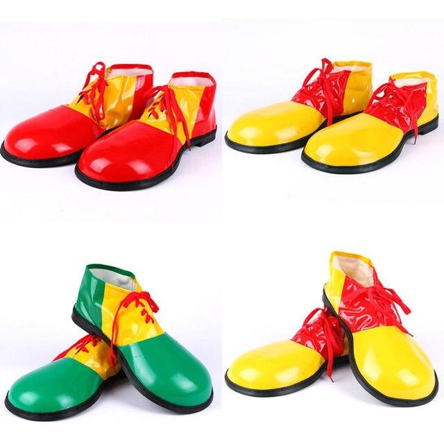 Adultos Jumbo Zapatos Del Payaso Del Vestido de Lujo Del Carnaval Fiesta de Halloween Prop Traje Unisex