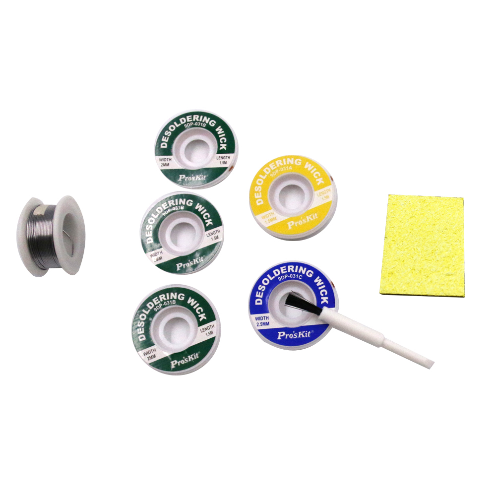 10 pcs/lot The Best BGA Desoldering wick Braid 50g Solder Wire Gift (Small brush and Soldering Iron sponge *2) free shipping 1 pc 1 5m 5ft solder wick remover desoldering braid wire sucker cable fluxed flux