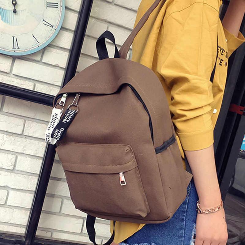 ZOQW женский тканевый женский рюкзак Повседневная дорожная сумка школьные сумки для студентов школьные рюкзаки для девочек mochila feminina WYQ652