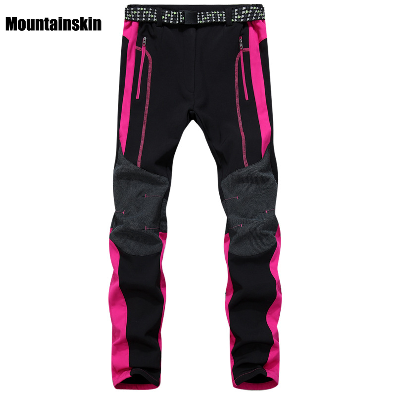 Men Women's Winter Fleece Softshell Pants Outdoor Sports Thermal Brand Clothing Hiking Camping Skiing Male Female Trousers VA087