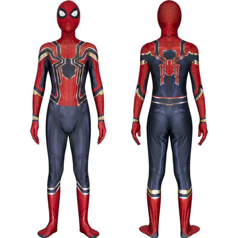 Spider Man Cosplay Costume Jumpsuit Bodysuit Adult Child Avengers: Infinity War Spider-man Spandex Zentai Costume Full Set