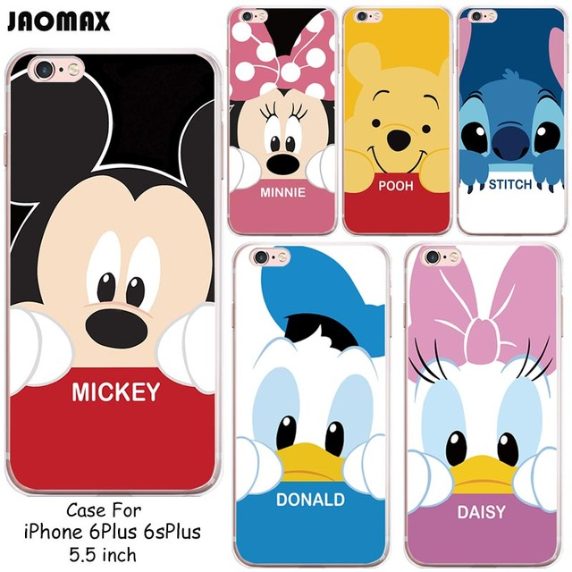 Image of: Gif Colorful Kawaii Animals Minnie Mickey Donald Daisy Case For Iphone Plus 6s Plus Transparent Silicone Phone Back Cover Aliexpresscom Colorful Kawaii Animals Minnie Mickey Donald Daisy Case For Iphone