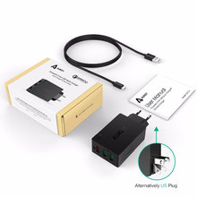 AUKEY Quick Charge 3.0 Fast USB Charger for Samsung Galaxy S8 Xiaomi redmi 4x iPhone 8 Universal Portable Wall Charger for Phone