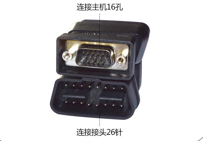 Original LAUNCH X431 IV Smart OBD II -16E Connector X431IV OBDII 16E Adaptor OBDII Connecter Obd 2 Adapter OBD