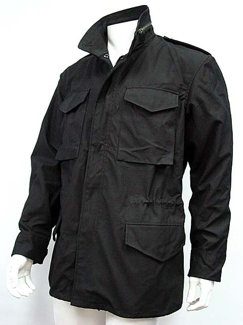 US SWAT Tactical M65 M-65 Field Jacket Coat Black BK dayocra black 65