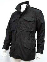 US SWAT Tactical M65 M 65 Field Jacket Coat Black BK