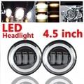 2x4.5 Inch 30 W LED Blub Con Anillo de Halo Faros de Conducción de la Luz para Haley Davision Motocicleta