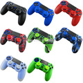 for Sony PlayStation 4 PS4 DS4 Wireless Controller 1 PCS Soft Silicone Protection Case Cover Skin + 2 Thumbsticks Grips