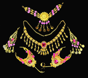 Image 5 - 2016 6 pcs/set Wholesale Indian belly dance wear belly dancing accessories necklace jewelry set for women