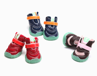 4Pcs/Sets Puppy New Fancy Cushioning Light up Large Dogs Shoes Boots Sport Dog Sneaker