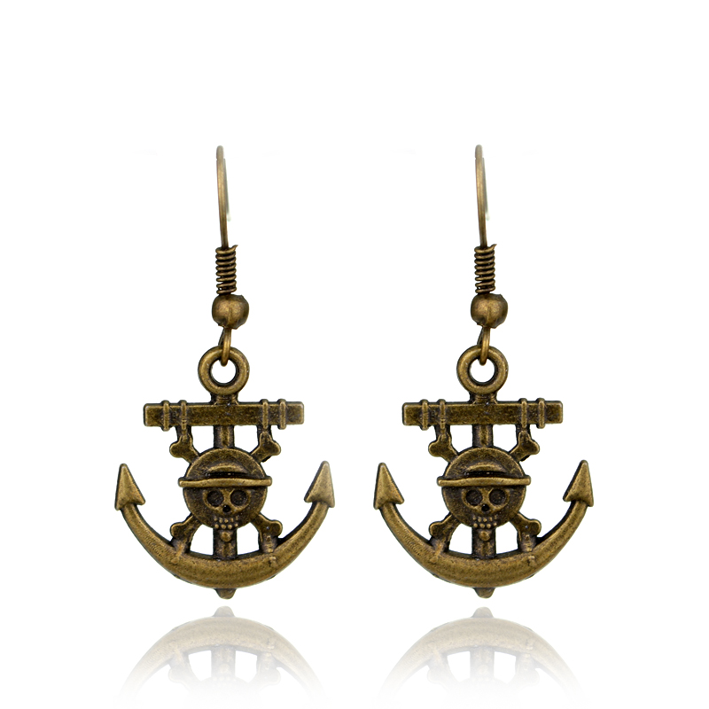 Monkey.D.Luffy Dreamed ONEPIECE Ace Mark Props Boat drop Earrings