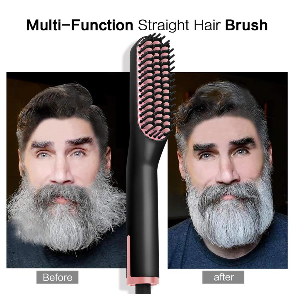 Hair Straightening Irons Beard Grooming Kit Boy Multifunctional Men Beard Straightener Styling Multifunctional Hair Comb Brush