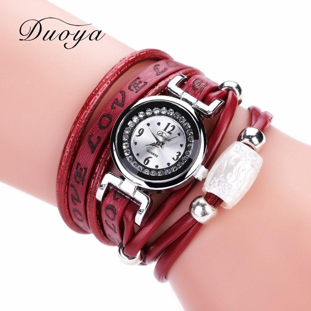 Excellent Quality Duoya Women Bracelet Watch Quartz Watch Wristwatch Women Dress Leather Bracelet Watches Montre Femme #A05