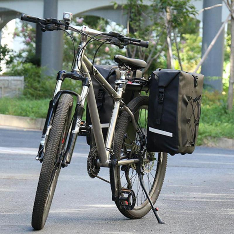 27L Waterproof Mountain Cycling Bicycle Bike Rear Rack Bag Tail Seat Trunk Pannier Bag Basket Case MTB Bike Accessories цена