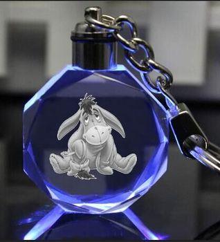 Брелок светодиодный кристалл ослик Иа в ассортименте
