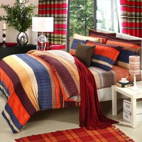 Ms.O Home Textile Duvet Cover Upgrade Ethnic Plaid Luxury Europe Printed Classic Designer Bedding Set Bedroom Bed Linen