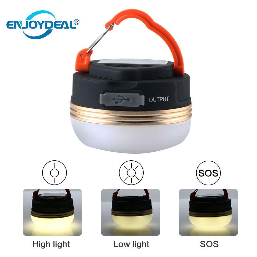 Camping Light Portable 3 Modes USB Rechargeable LED Tent Light Lantern w// Magnet