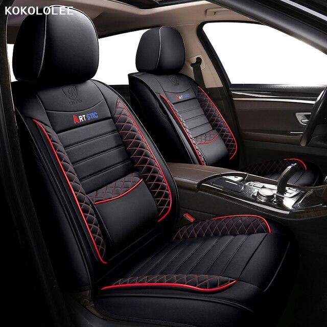 Kokololee רכב מושב כיסוי עבור פולקסווגן פולקסווגן פאסאט b5 b6 b7 b8 פולו גולף tiguan ג טה טוארג שרן אביזרי רכב מושבים לרכב