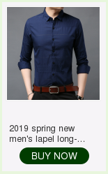 2019 spring new men's shirt Korean version of the self-cultivation youth casual business cotton shirt tide men's boutique shirt 9