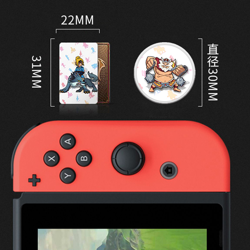 The Games <font><b>card</b></font> of <font><b>amiibo</b></font> Compatible Zelda 23 <font><b>NFC</b></font> Round <font><b>Card</b></font> 20 Heart Wolf the Legend of Breath of the wild NS Nintend Switch image